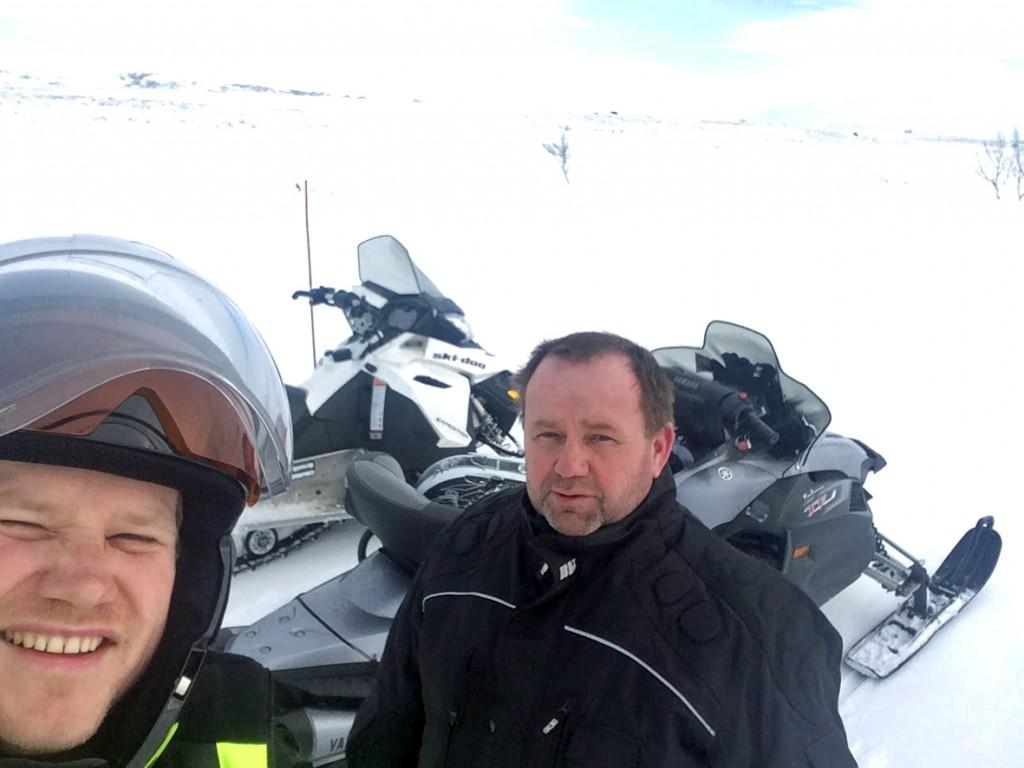 Erik Kirkvold og Knut Ivar Furan - to av ildsjelene som har arbeidet i mange år for å få løype til Tydal.